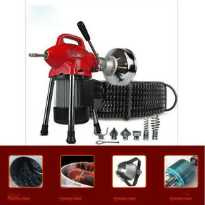 110v Electric Pipe Dredging Machine Sectional Pipe Drain Cleaner Cleaning Machin