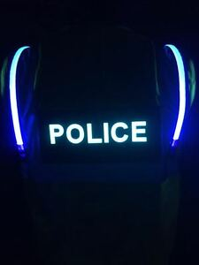 Ansi 2 Illuminated Led Safety Vest Police Officer Law Id Panel Lime Green Xl