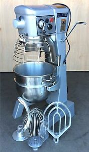 Reconditioned Hobart 3 4hp 30qt Mixer Paddle Whip Hook Bowl Timer Bowl Guard