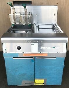 New Frymaster Fmp145 Performance Gas Fryer With Filter System Holding Station