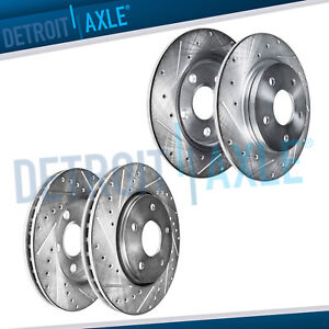 Front Rear Drilled Rotors 2006 2007 2008 2009 2010 Ford Explorer Mountaineer