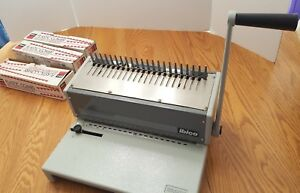 Ibico Ibimatic Manual Comb Binding And Punch Machine W Three Boxes Plastic Combs