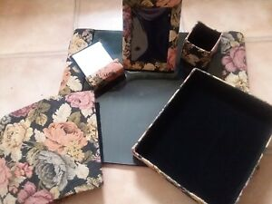 New 6 Piece Tapestry Executive Desk Blotter Pad Set Nice
