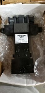 9512 Spx Power Team 4 way 3 position Pilot Operated Solenoid Tandem Center Val