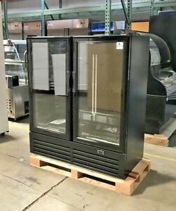 New 54 Stylish 2 Door Upright Refrigerator Model Gc480 Display Cooler nsf Etl