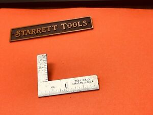 Vintage L s Starrett No 21 2 X 1 Inch Thin Steel Try square Made In The Usa