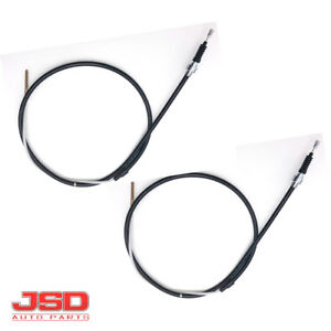 2pc Emergency Parking Brake Cable For Vw Volkswagen Jetta Golf Cabrio 1h0609721e