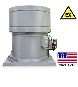 Roof Exhaust Fan Explosion Proof 24 2 Hp 230 460v 3 Ph 9230 Cfm