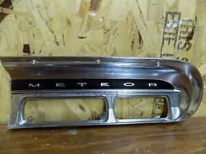 1962 Mercury Meteor Dash Trim Chrome Bezel Radio Heat 62 2 4 Door V8