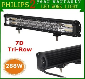 7d Tri Row Philips 20inch 288w Led Light Bar Ford Offroad Driving Suv Combo 4wd