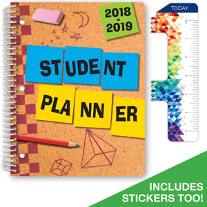 Dated Student Agenda Academic Planner Calendar Year 2018 2019 Elementary School