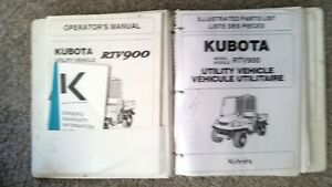 Kubota Rtv900 Operators And Workshop Manuals