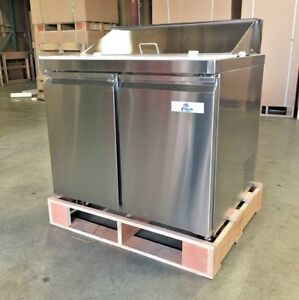 New 36 Sandwich Salad Pizza Prep Table Mobile Refrigerator Model Scl2 36 Nsf