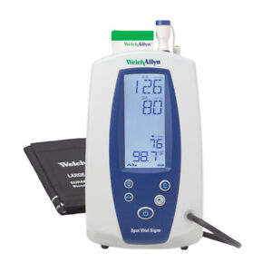 Welch Allyn Spot Vital Signs Monitor 420tb e1 Nibp Temp More No Probe