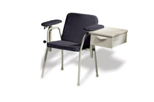 Midmark 281 Blood Drawing Chair W Drawer Black New