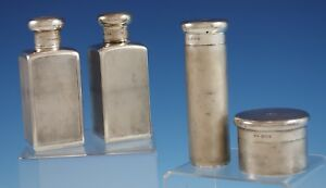 Mappin Webb English Sterling Silver Grooming Set 4pc C 1921 2871 Vintage