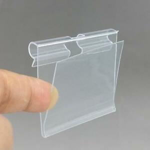 Clear Pvc Plastic Price Tag Sign Label Display Holder Thickening Shelf Hook Rack