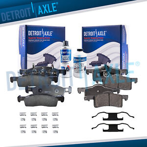 Front Rear Ceramic Brake Pads 2003 2004 2005 2006 Ford Expedition Navigator