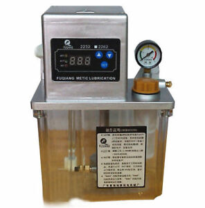 220v Automatic Lubrication Pump Cnc Electronic Timer Lcd Auto Oiler 6mm 2l