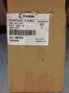 Kimble 20026 10 Graduated Cylinder 165mm H size cap 10ml Pk Of 6