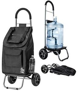 Trolley Dolly Black Shopping Grocery Foldable Cart Lightweight Multi functional