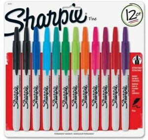 Sharpie Retractable Fine Point Markers Assorted Color