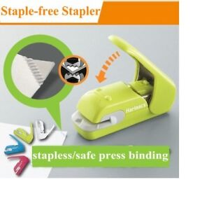 Creative Staple Free Stapler Office Manual Mini Stapler Safe Paper Stapler Tools