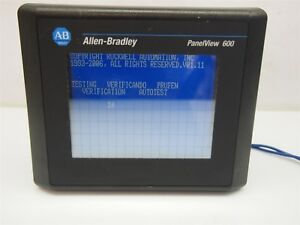 Allen Bradley Panelview 600 2711 t6c8l1 Touch Screen Operator Interface Panel