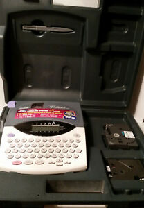 Brother P touch 1800 1810 Label Maker Printer W Case Works
