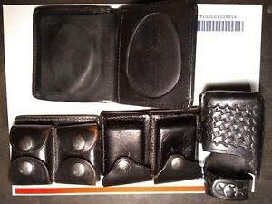 Police Duty Leather With Holster Accessories Wallet