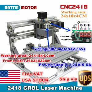 usa 2418 3 Axis Diy Mini Laser Machine Grbl Control Pcb Milling Cnc Wood Router
