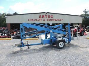 2012 Genie Tz34 Towable Boom Lift Jlg 35 Reach Articulating Low Hours