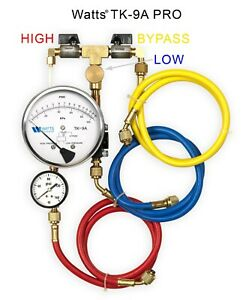 Watts Tk9a Backflowtest Kit Pro Model Equipped With Free Line Pressure Gauge