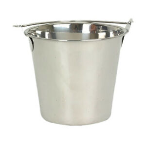 Thunder Group Slpal016 16 Qt Stainless Steel Utility Pail W Swing Handle