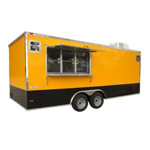 Concession Trailer 8 5 x20 Yellow Concession Vending Food Event