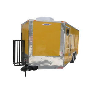 Concession Trailer 8 5 x16 Yellow Bbq Catering Event Vending