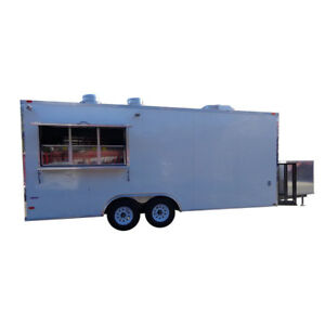 Concession Trailer 8 5 x20 White Catering Food Vending Event