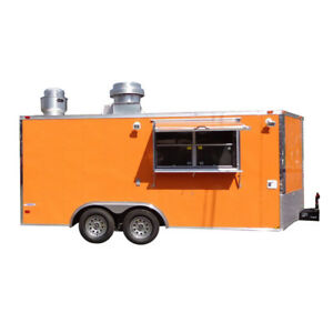 Concession Trailer 8 5 x16 Event Catering Food Vending orange