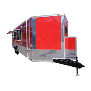 Concession Trailer 8 5 x24 Red Vending Catering Event Food