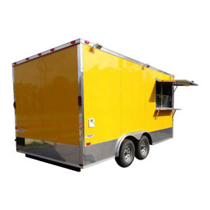 Concession Trailer 8 5 x16 Yellow Catering Food Event Vending