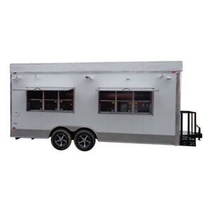 Concession Trailer 8 5 x20 White Catering Vending Event Food
