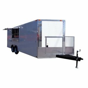 Concession Trailer 8 5 x20 White Catering Vending Event Food With Applicances