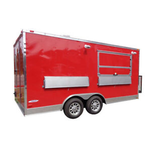 Concession Trailer 8 5 x16 Red Custom Food Catering Event