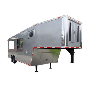Concession Trailer 8 5 x29 Silver Bbq Smoker Food Vending