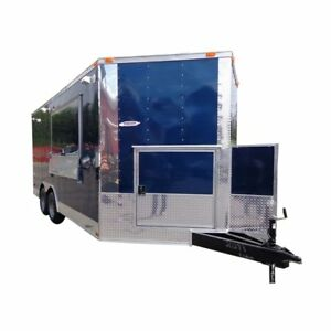 Concession Trailer 8 5 x16 Blue Catering Food Event Vending
