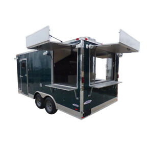 Concession Trailer 8 5 X 17 Emerald Green Food Catering Enclosed Kitchen