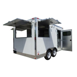 Concession Trailer 8 5 x14 White Vending Food Catering Event