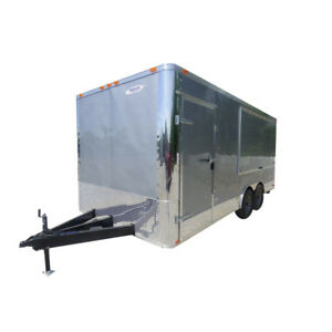 Concession Trailer 8 5 x18 Silver Frost Enclosed Food Catering Kitchen