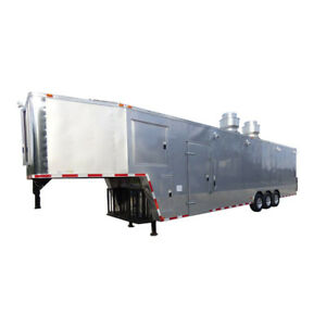 Concession Trailer 8 5 x41 Silver Frost Gooseneck Enclosed Food Kitchen