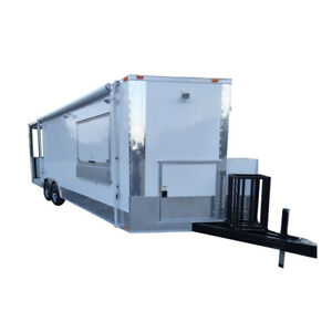 Concession Trailer 8 5 x24 White with Appliances Event Smoker Kitchen